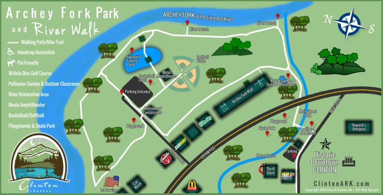 Archey Fork Park Map Clinton AR